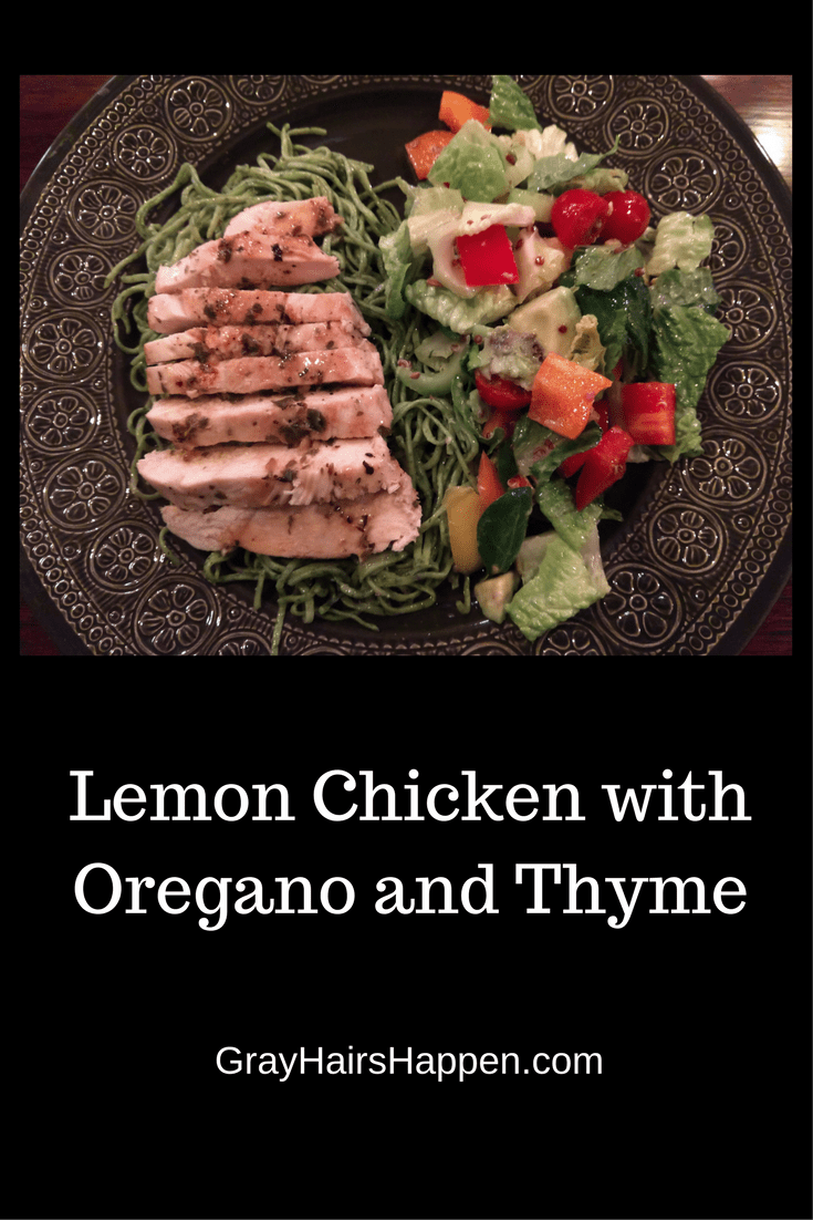 Lemon Chicken with Oregano and Thyme Lemon chicken