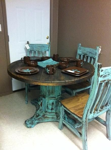 Red River Rustic Living Room Kitchen Home Decor Chic Table
