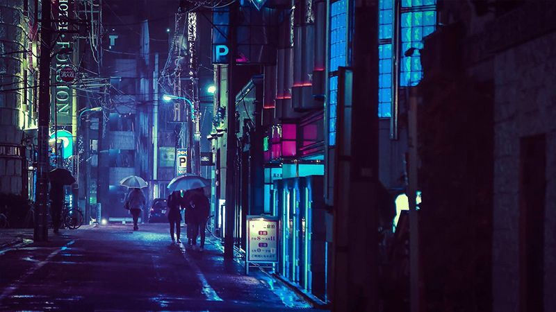 Tokyo Looks Best At Night Cyberpunk City Neon Noir Night City