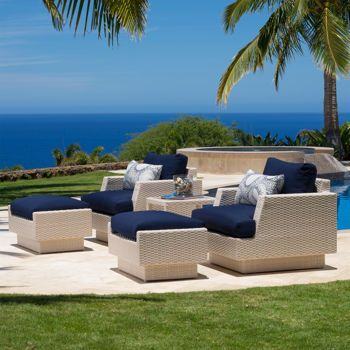 portofino comfort 5 piece club chair set in newport blue via costco rh pinterest com