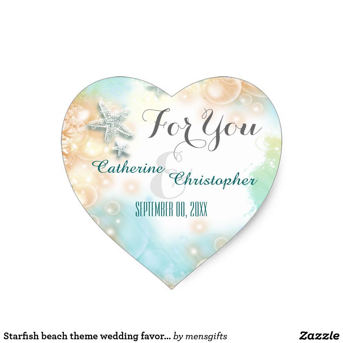 Starfish beach theme wedding favor \