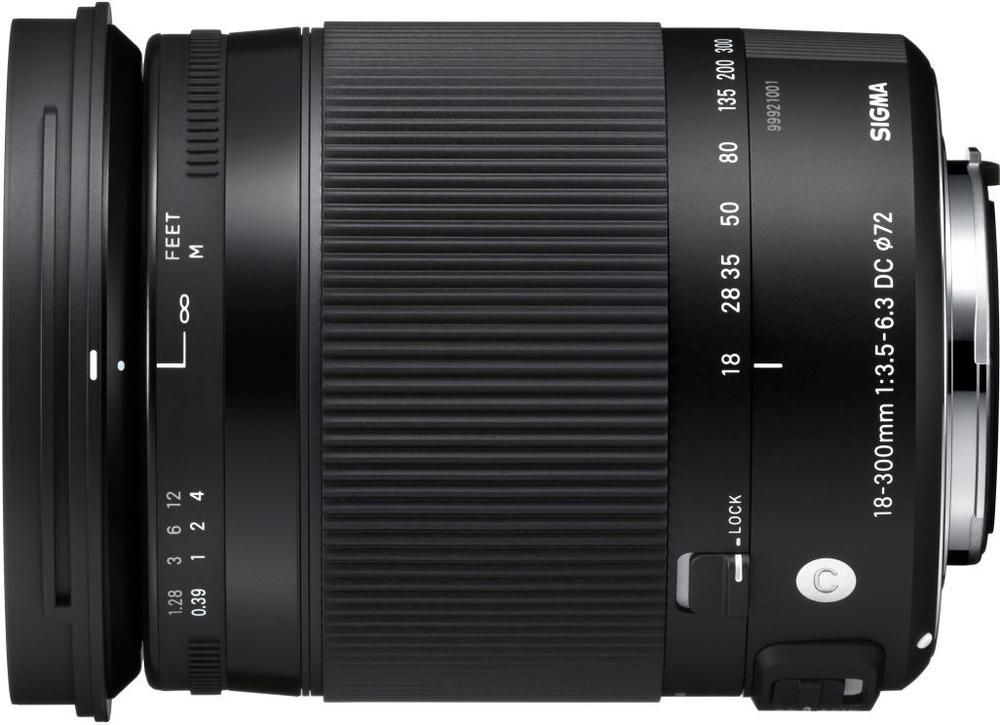 Achieve clear close-up images with this Sigma 13-300 macro lens. The image stabilization feature prevents blurred pictures, and the hypersonic motor drive autofocusing system is ideal for beginning photographers. This Sigma 18-300 macro lens includes a convenient lock switch to prevent it from extending when the camera is not in use.
