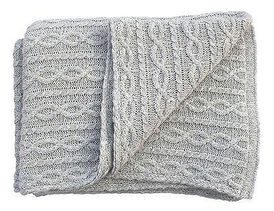 Kuschelig Warme Wohndecke Wolldecke Sofadecke Plaid Design Grau Wolle 130x170 Cm Wolldecke Wohndecke Kuschelig