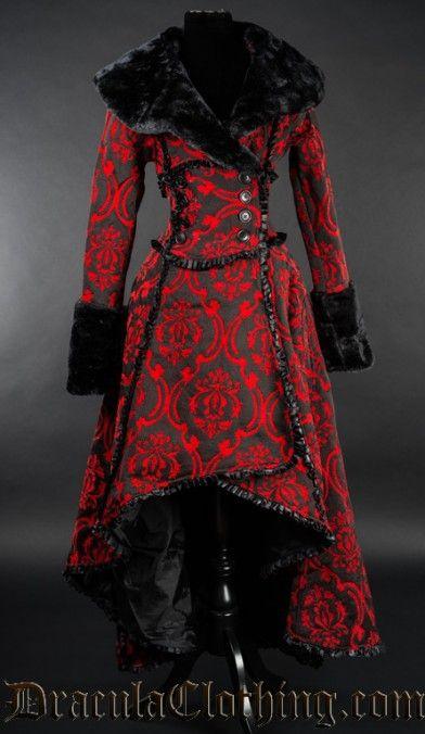 Red Evil Queen Coat Mode Rouge, Manteau Femme, Style Gothique, Veste, Garde 48be03b132c