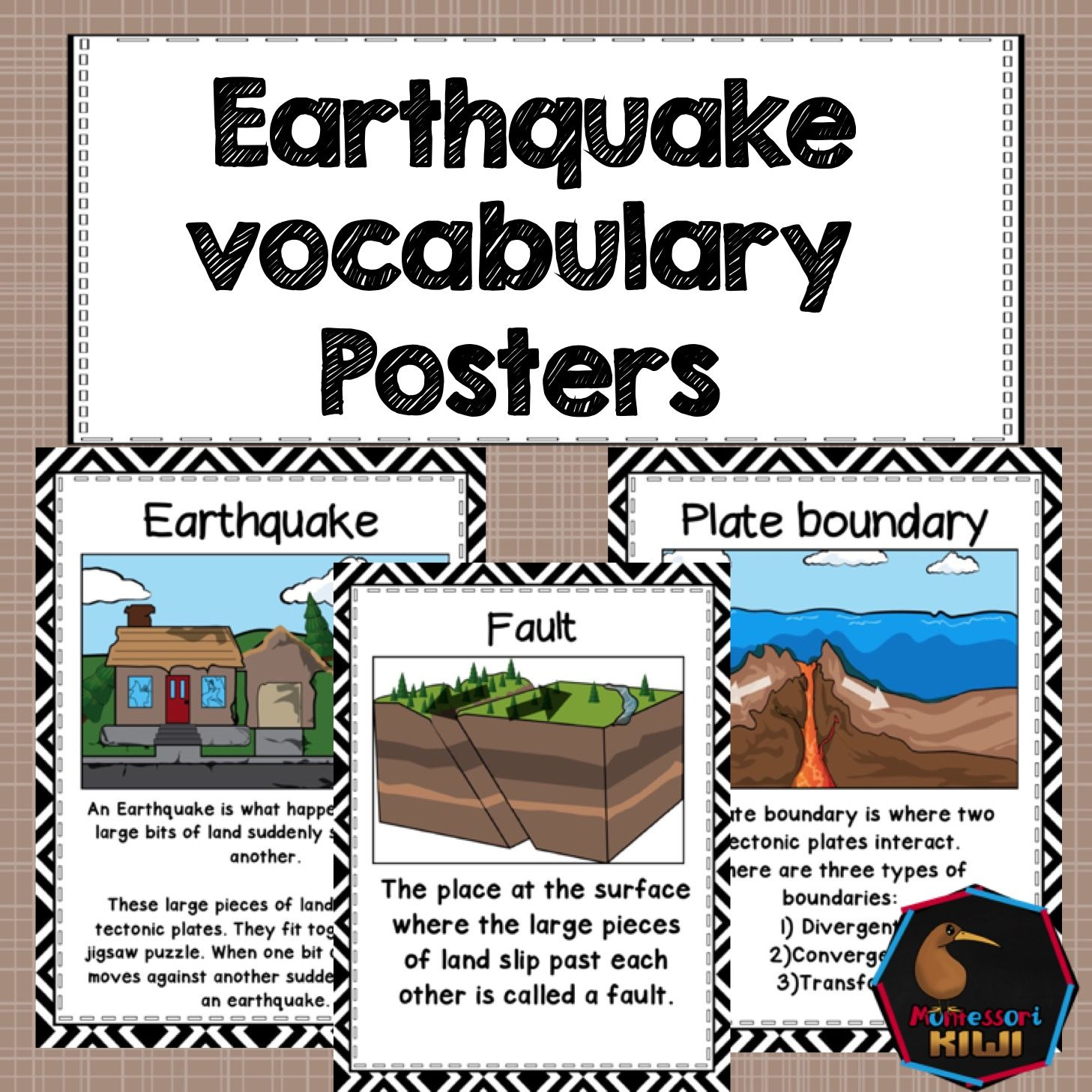 Earthquake Posters Great For Classroom Social Stu S