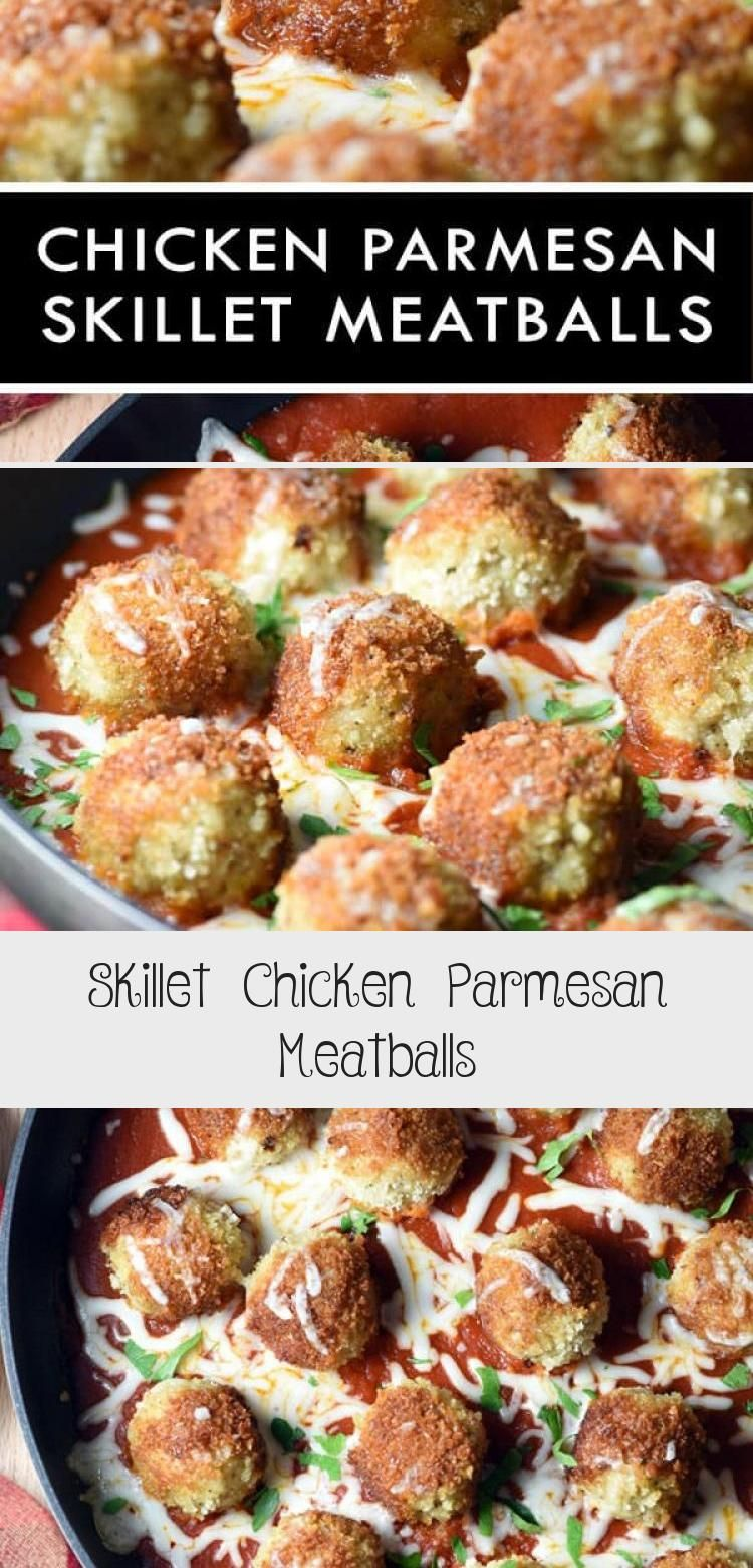 Skillet Chicken Parmesan Meatballs is your favorite Chicken Parmesan but in meatball form Serve with a simple side salad for a delicious complete dinner