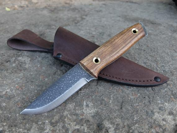 Pocket Bushcraft Scandinavian Style Full Tang Knife Scout Handmade Russian Knife Bushcraft Bushcraft Knives