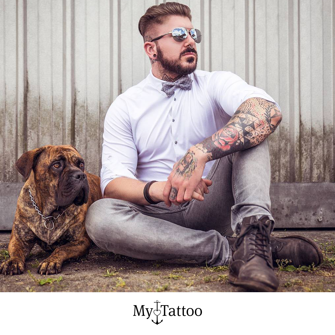 Ink & Style 🤙 ⁠ Make your next Appointment⁠ Shop 🏠: @getinktattoostudio  Located 📍: Nordhorn, Germany⁠ •⁠  🔜 @mytattoocom  🔝 •⁠ Credit to 📷 owner⁠ [Werbung/Advertising]⁠ •⁠ #mytattoocom #Tattoo #Tattoos #ink #tattooartist #skinart #bodyart #tattooart #tattooideas #tattooinspiration #tattoooftheday •⁠ #Tattoomodel #Tattoogirls #fashion #drawing #Tattoogirl #realistic #art #instatattoo #inklife #tatted #blackandgrey #body #style #tattooboy  •⁠ #fotoshooting #doglovers #inkedguys