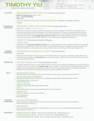 Timothy Yiu Resume GET A JOB Pinterest Resume styles, Graphic