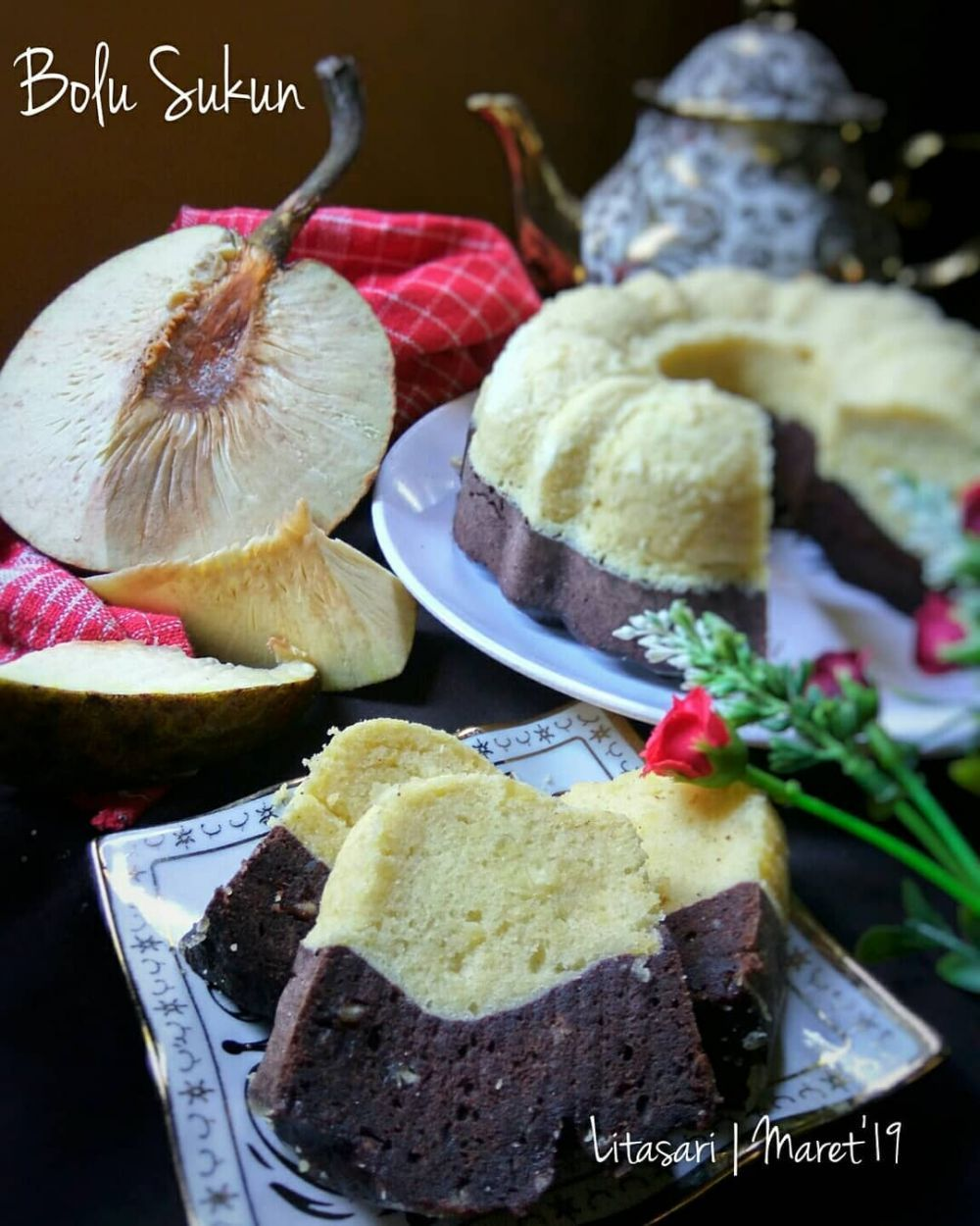 Bolu Sukun Makanan Cokelat Resep Kue