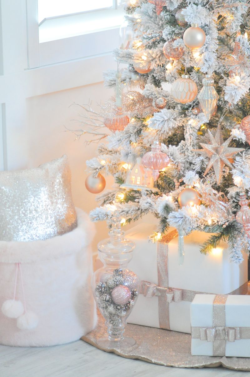 blush pink vintage inspired tree awesome party ideas christmas rh pinterest com