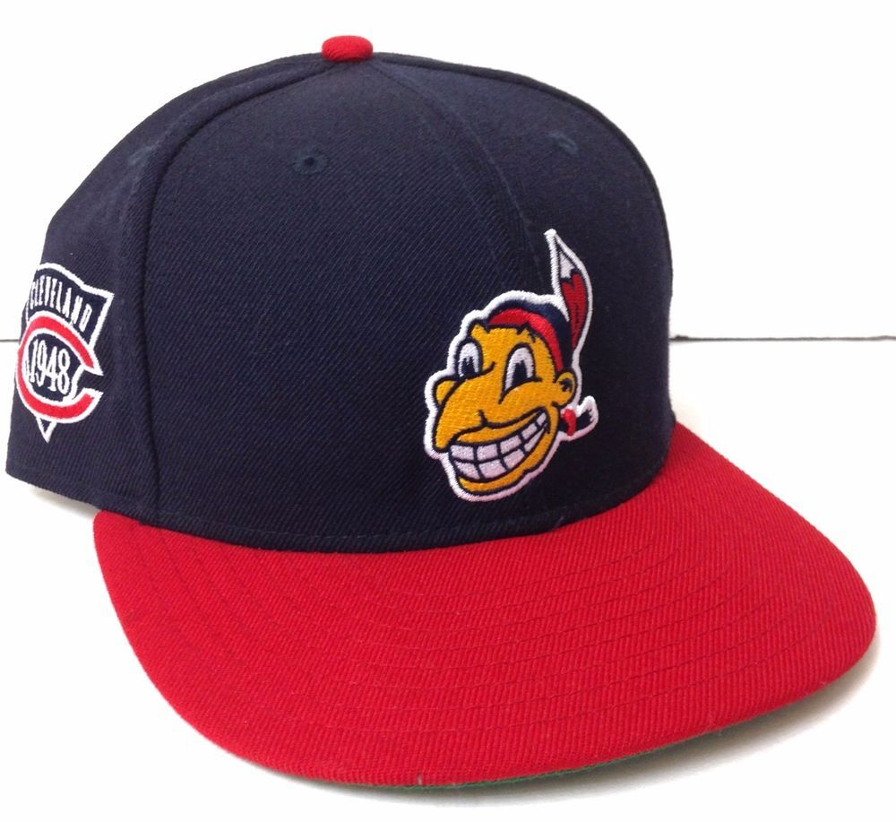 Fitted Size 7 Replica Vtg 1948 WORLD SERIES CLEVELAND INDIANS HAT Chief  Wahoo  NewEra  ClevelandIndians 97b3761bb50e