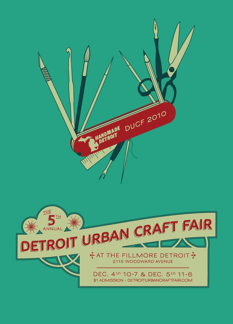 love this craft sale poster concept