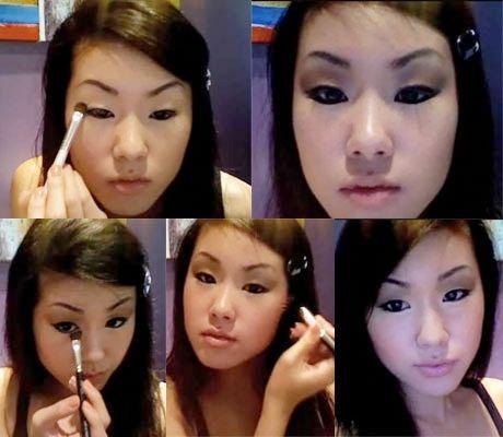 asian look make eyes