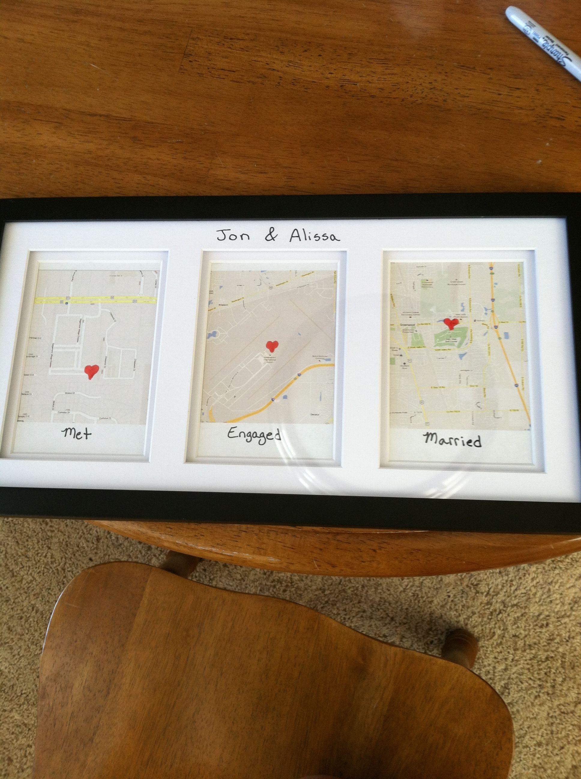 super cute wedding present google maps where