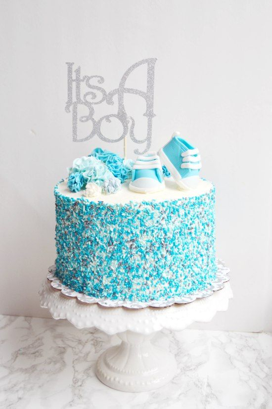 It S A Boy Cake With Images Baby Shower Cakes For Boys Pastel