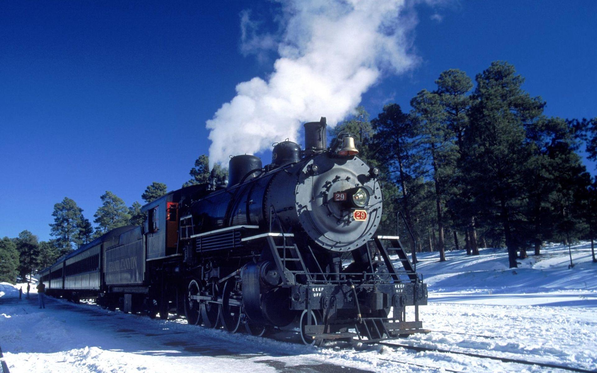 Winter Train 1920x1200 1610 Train wallpaper