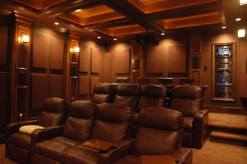 Tan And Red Color Scheme Brown For Home Theater