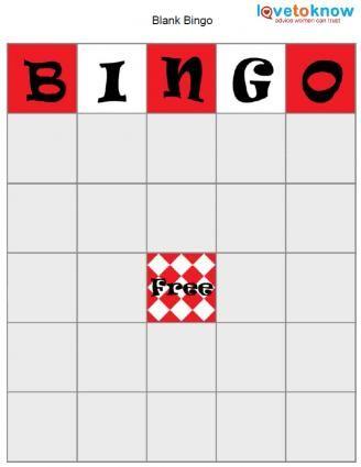 Blank bingo card Valentines Day Pinterest Blank bingo cards - blank card template