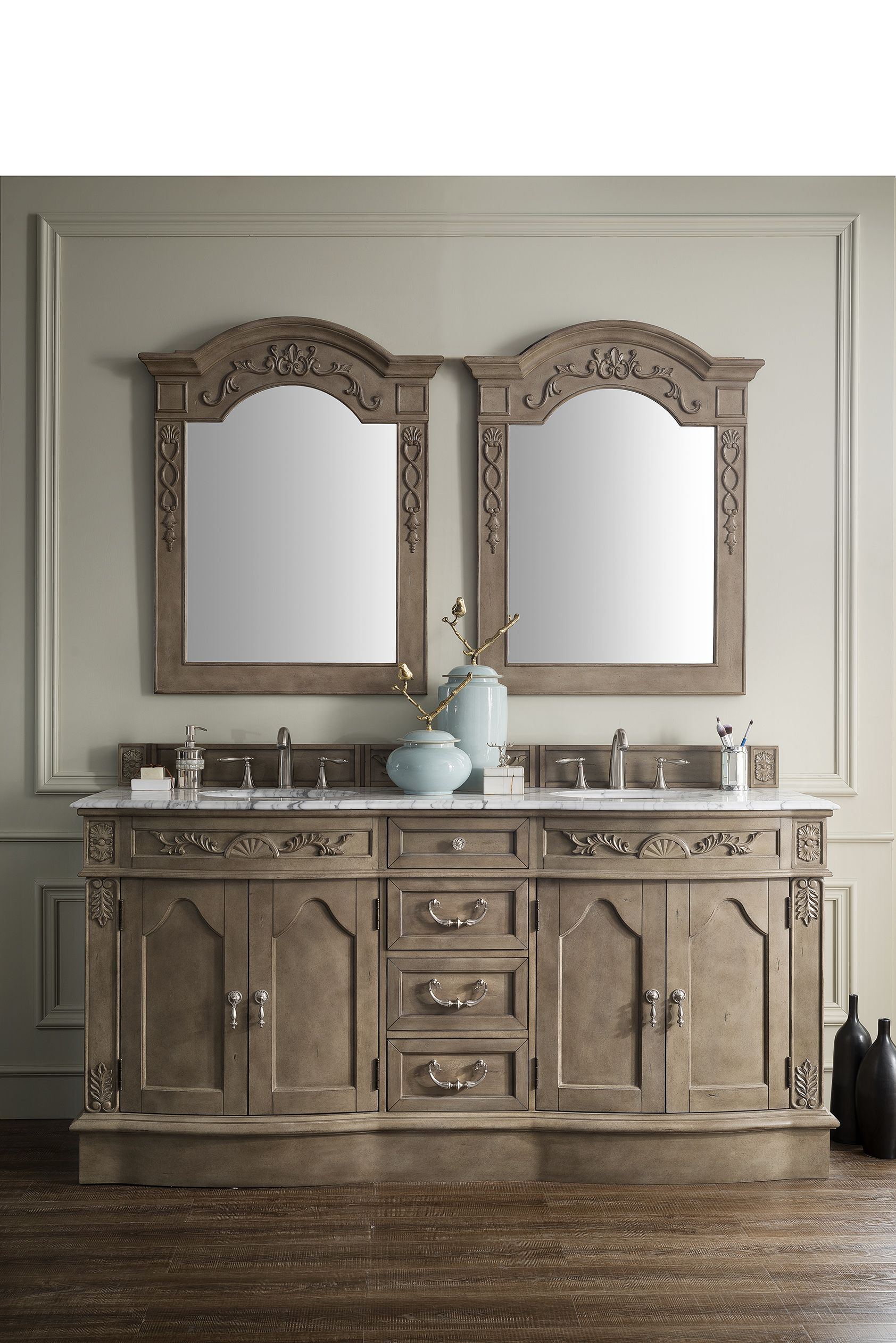 amalfi 72 double sink bathroom vanity cabinet empire gray finish rh pinterest com