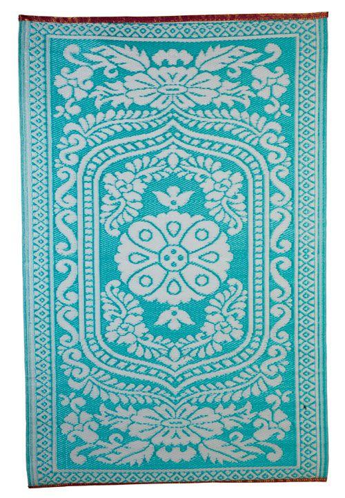 Orientteppich türkis  House Doctor Teppich Kunststoff Oriental hippie türkis 120x180cm ...