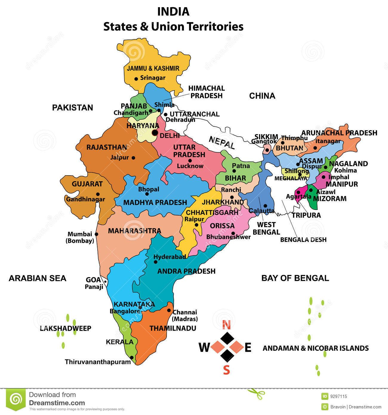 Map Of India Hd Indian Map With Names India Map Download ...