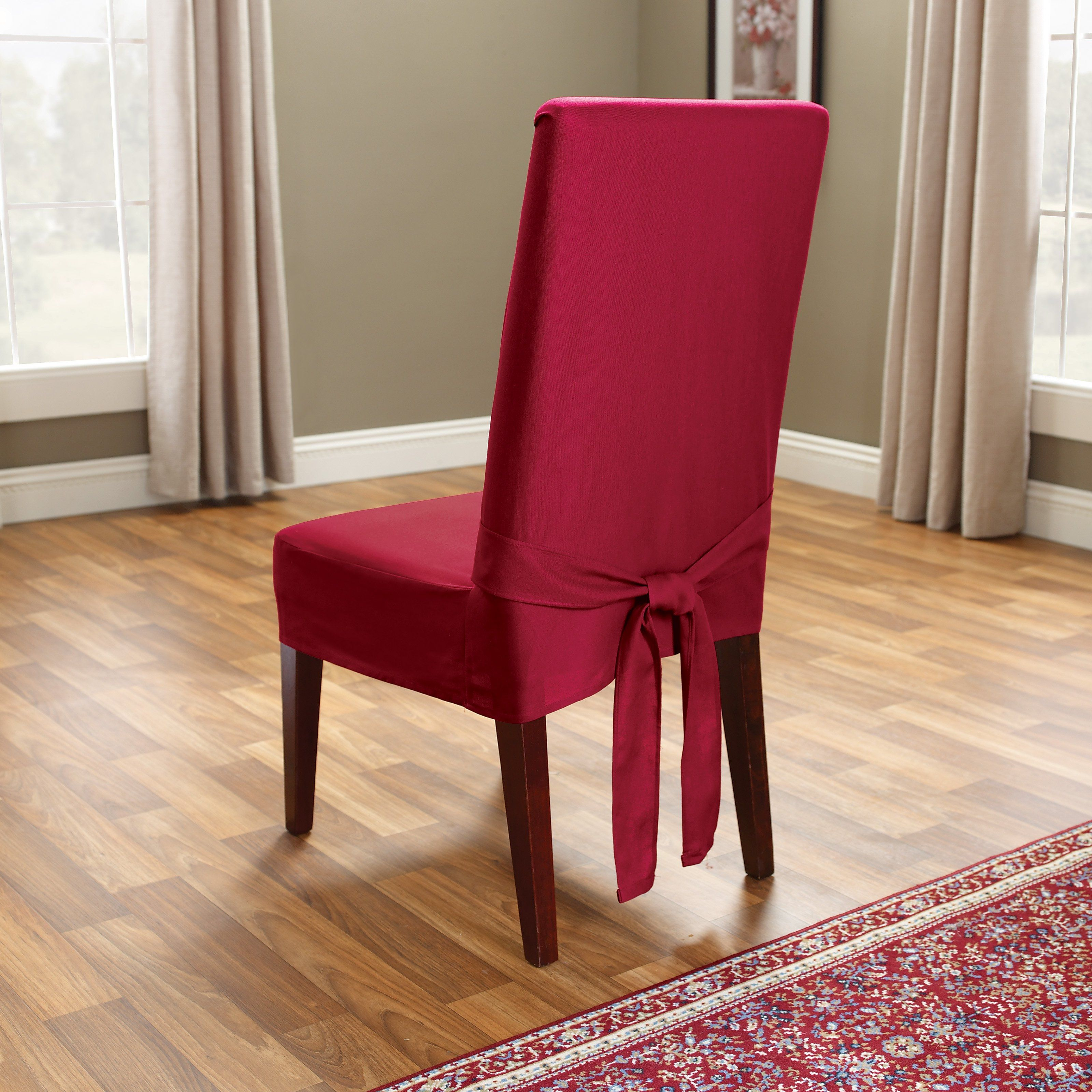 Sure Fit Soft Suede Shorty Dining Room Chair Slipcover Alluring Shorty Dining Room Chair Covers  Httpimages11  Pinterest Design Decoration