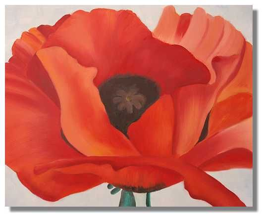 Poppys painted in acrylic red poppy flower painting on canvas poppys painted in acrylic red poppy flower painting on canvas date of create mightylinksfo Image collections
