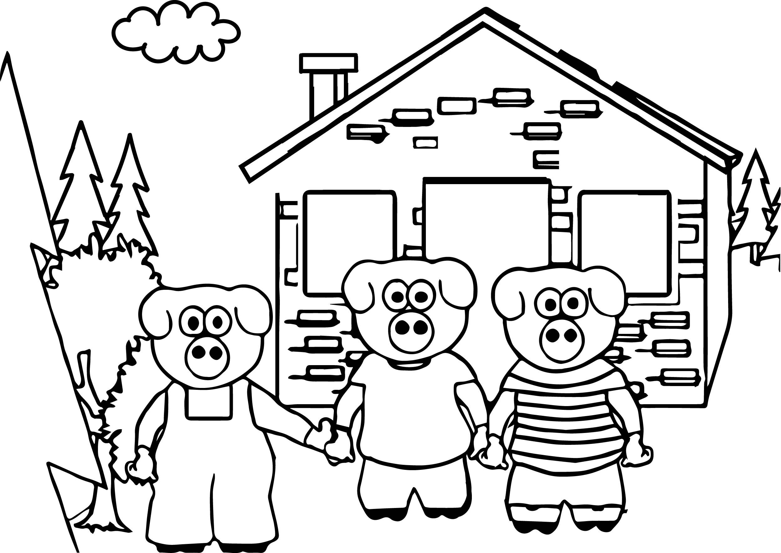 Awesome Keys To Literacy Three Little Pigs Coloring Page Little