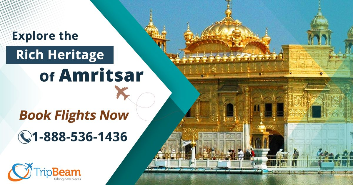Explore the Rich Heritage of #Amritsar at Lowest Airfare. Book your flight now with #Tripbeam and get great discounts on your next trip to Amritsar, #India.   Contact us at: 1-888-536-1436 (Toll-Free), info@tripbeam.ca. Or, click the link in bio @tripbeamcanada.  #indiatravel #travelamritsar #CanadatoIndia #CanadatoIndiaflights #LowestAirfare #bestdealstoindia #bookflightnow