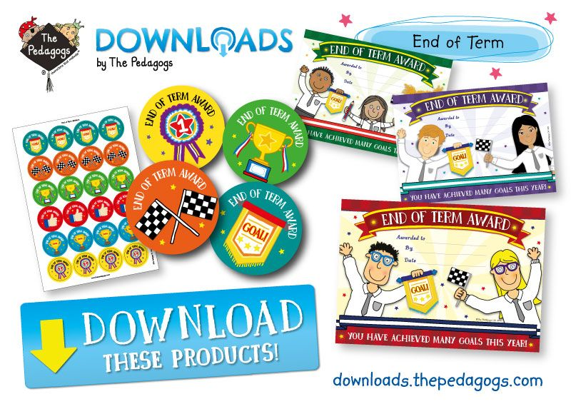 Want to get these fantastic End of Term products?  Simply sign up on The Pedagogs Downloads Site now!   http://downloads.thepedagogs.com/?page_id=16  Praise your class with End of Term Stickers and Awards! Goals achieved!  http://downloads.thepedagogs.com/?s=end+of+term #PedagogsDownloads
