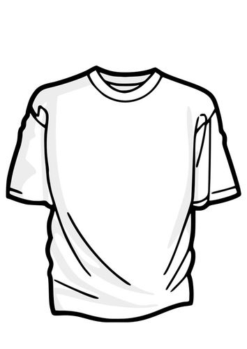 Coloring Page T Shirt Edupics Site Need To Check It Out