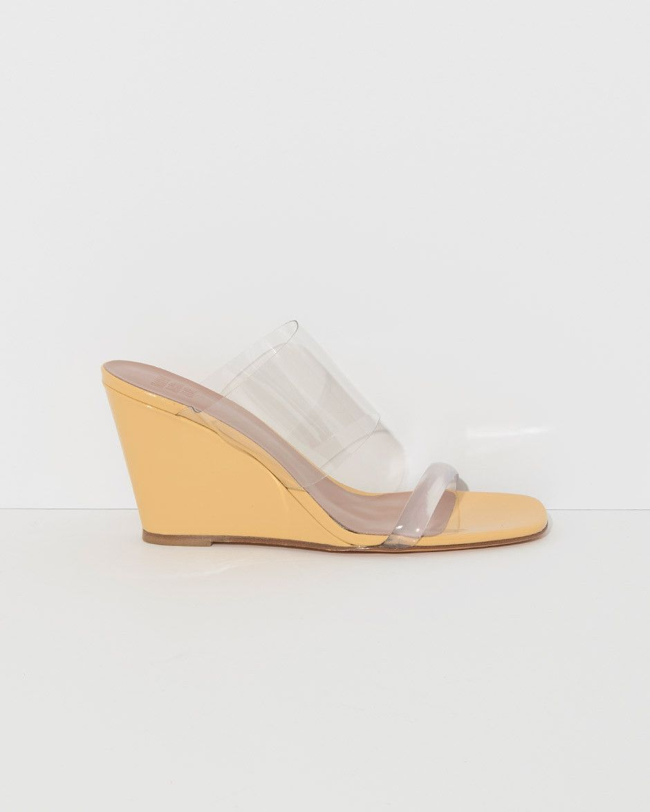 05262918c22 Maryam Nassir Zadeh Olympia Wedge in Amber Patent