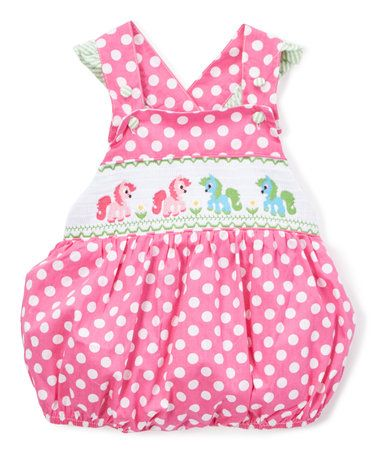 c1422e509 Another great find on  zulily! Hot Pink Unicorn Smocked Bubble ...