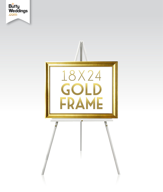 18 X 24 Gold Frame Solid Maple Wood Wedding Sign Frame Rose Gold
