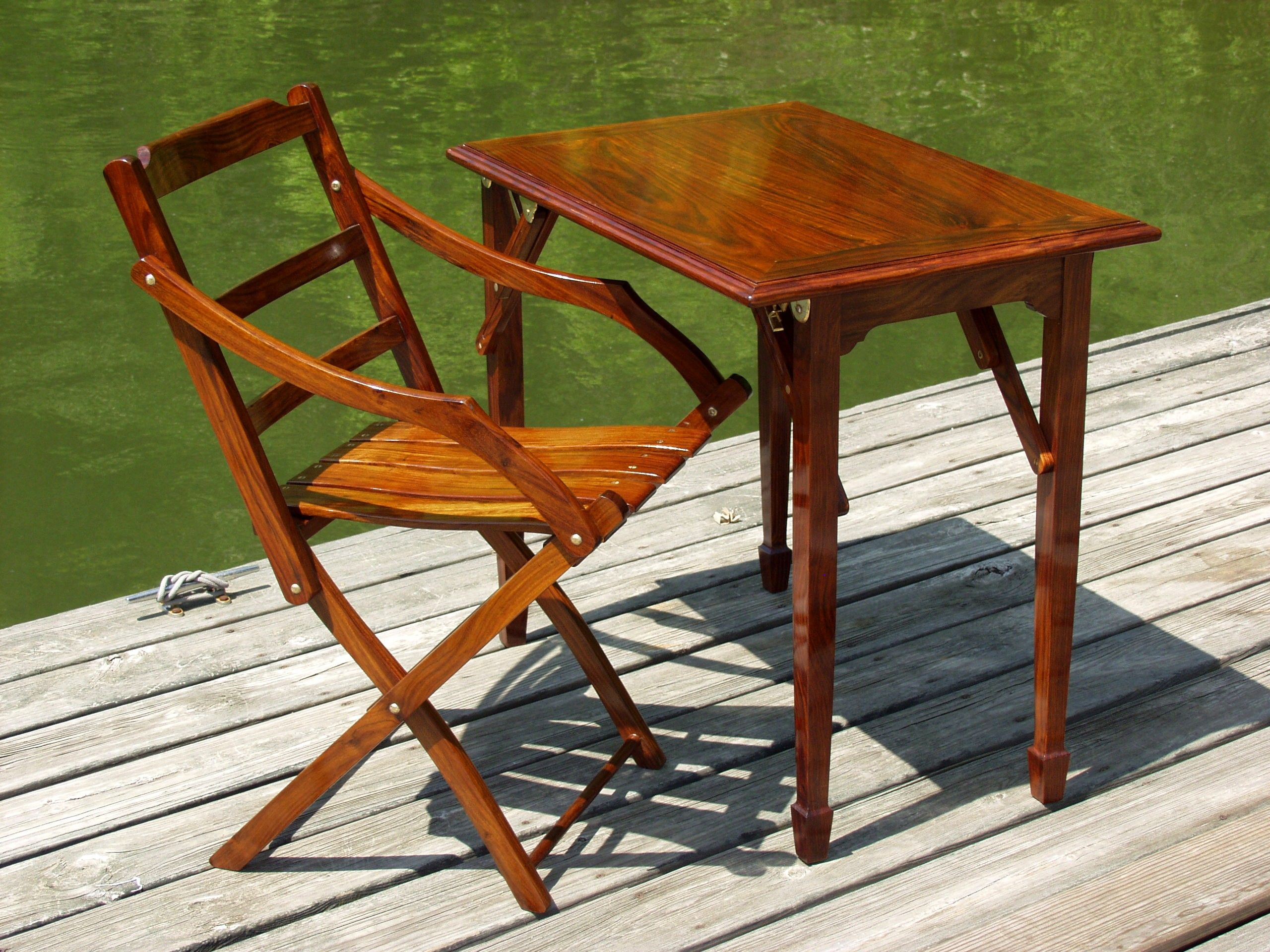 Barbados Folding Table | Products | British Campaign Furniture .