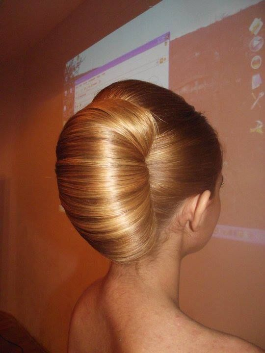 Large French Roll In Blonde Hair Frenc