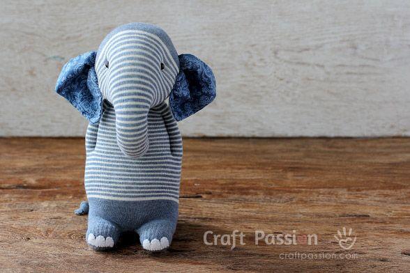 Socken-Elefanten | Bastelideen | Pinterest | Nähen anfänger, Nähen ...