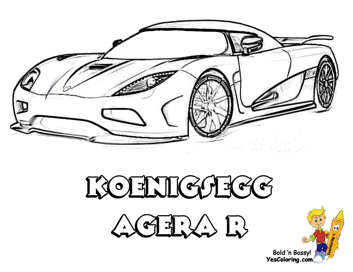 Koenigsegg Cs8s Coloring Pages To Print Mobil Balap Mobil Anak