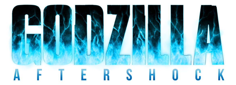 Godzilla Aftershock Blue And Black Logo Godzilla Aftershock Graphic Novel