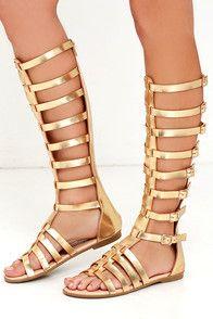 9740075e044 Cute Rose Gold Sandals - Slide Sandals - Flat Sandals -  12.00. From desert  festivals to Madison Square Garden