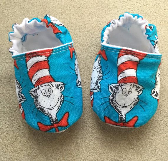 Dr Seuss baby shoes booties Cat in the Hat baby by BabyBrays