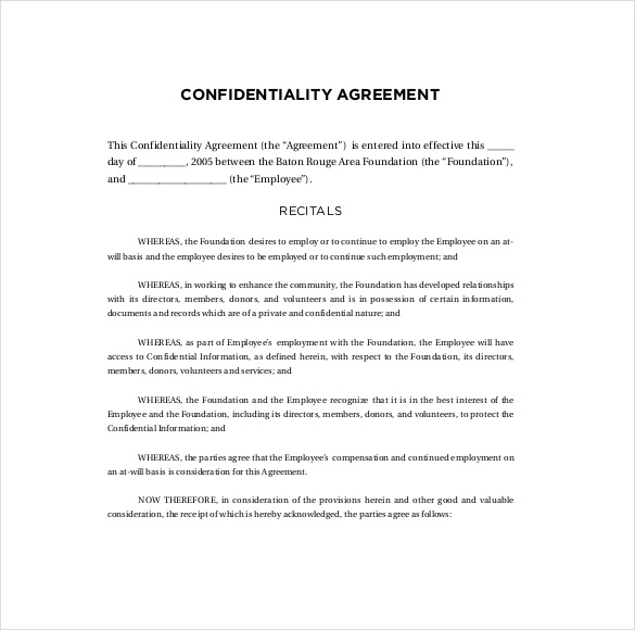 Confidentiality Agreement Templates 13 Free Ms Word Pdf Free Word Document Agreement Statement Template