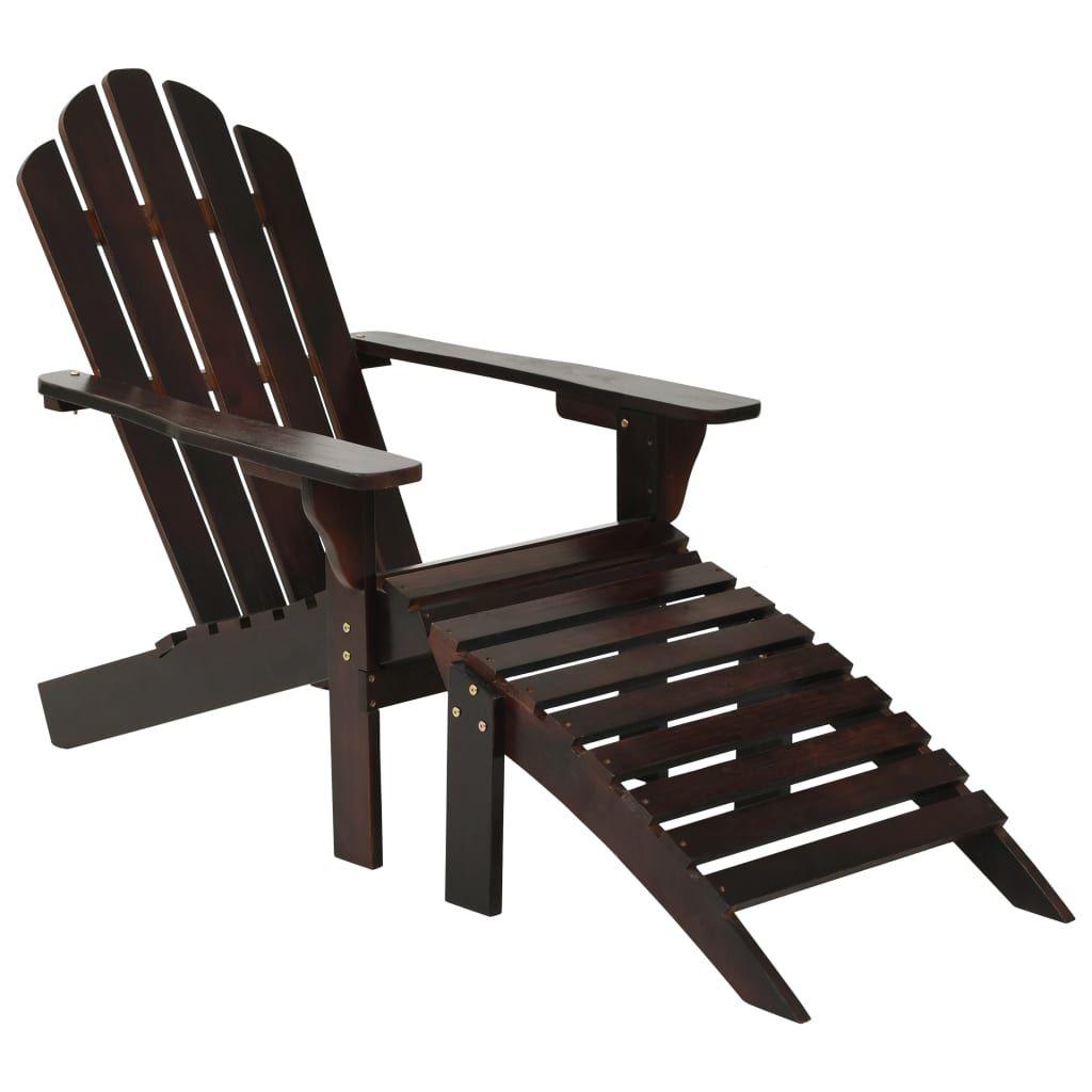Entspannen Sie sich in unserem Vintage-inspirierten Sessel und auf der Fußstütze aus Massivholz. Mit seinem eleganten und zeitlosen Design ist er eine praktische und klassische Ergänzung für Ihren Wohnraum im Freien. Der Sessel besteht aus massivem Hartholz mit dauerhaftem Finish und zeichnet sich durch Langlebigkeit und Witterungsbeständigkeit aus. Sie können den Stuhl und die Fußstütze im Garten oder auf Ihrer Terrasse platzieren, um tolle Bücher und eine Tasse Kaffee zu genießen. Der Gartenst