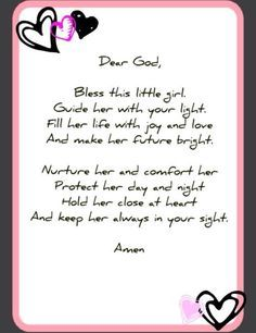Little girl prayer
