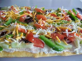 Sweet B's Impressions: Game Day #2: Cold Vegetable Pizza