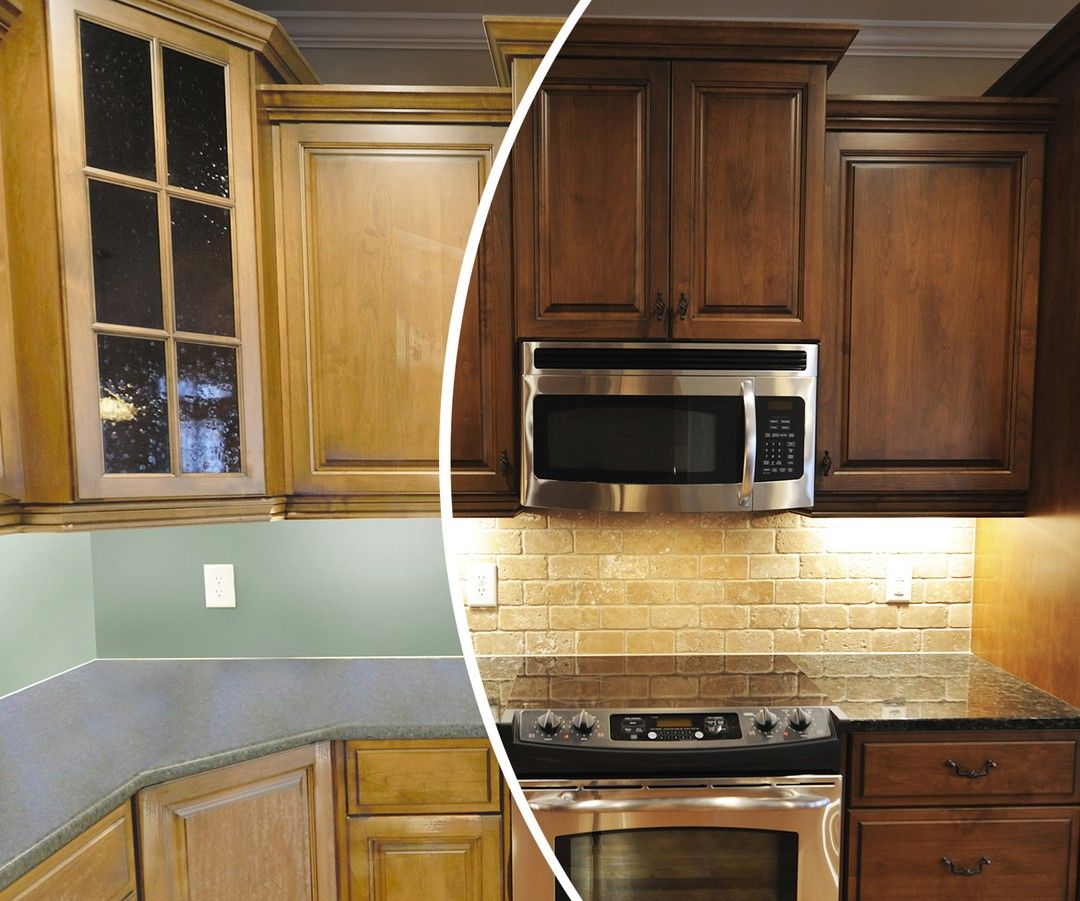 Completely Transform The Look Of Your Kitchen With A Color Change From N Hance Thou In 2020 Kitchen Cabinets Kitchen Cabinets And Countertops Kitchen Cabinet Hardware