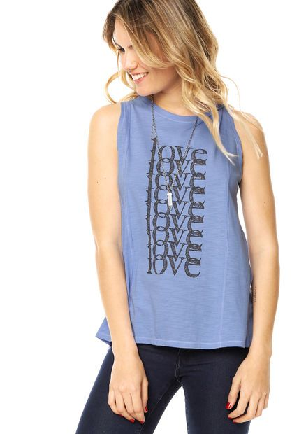 Musculosa Azul Try Me Amatista