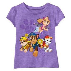 Paw Patrol Top Pups Toddler Girls' Short Sleeve Tee - Purple