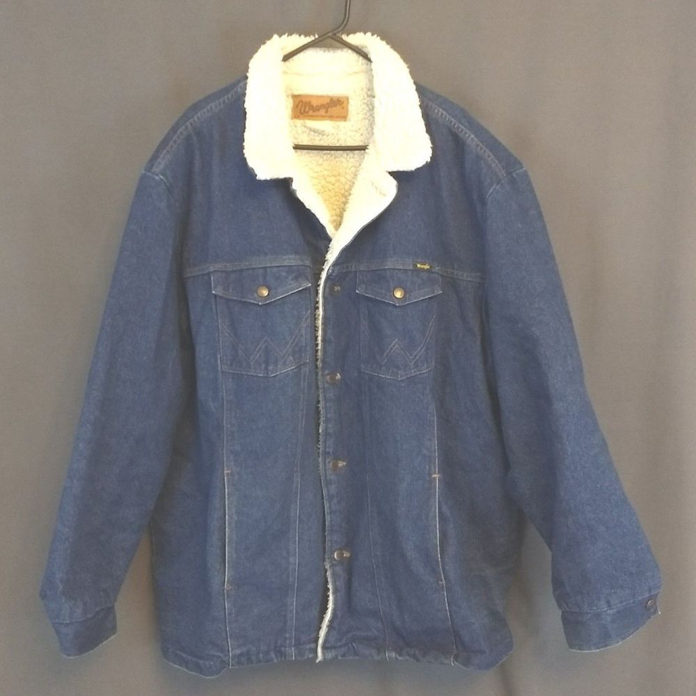 Wrangler Authentic Western Blue Jean Jacket Size 3xl Denim Sherpa Lined Wrangler Jeanjacket Up Shirt Button Up Shirts Denim Button Up [ 1000 x 1000 Pixel ]